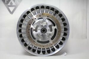 Harley front FL Touring chrome wheel Road King Glide FLHT + dual rotors EP22121