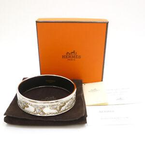 Authentic HERMES Enamel Bangle Bracelet  Multi-Color Cloisonne #S211048