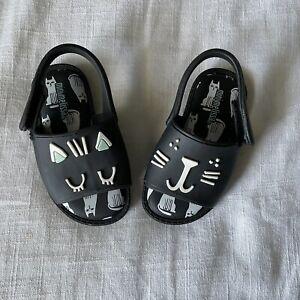 Mini Melissa Kids' Mini Mia Fabula Mary Jane Sandal Cat Print Size Baby 6