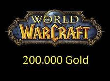 WoW 200000 Gold World of Warcraft Mal'Ganis / Echsenkessel / Taerar A + H