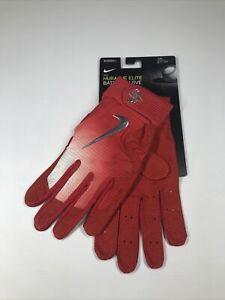 Men's Red Nike Huarache Elite Batting Gloves 2XL NWT
