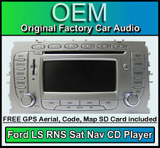 Ford S-Max Sat Nav car stereo, Ford LS RNS CD player radio + code & Map SD Card