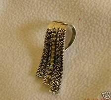 Taylor Avedon 925  marcasite three strand slide & Chain