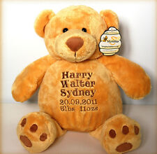 Personalised Teddy Bear 16', Large, Births, Christenings, Weddings/New Born Baby