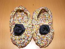 Markenlose Baby-Schuhe mit Strick/Gehäkeltem aus 100% Baumwolle
