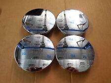 "Set Of 4 Chrome 3.25"" CENTER CAPS GM 20 22 inch Escalade Yukon Tahoe OEM Wheels"