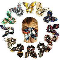 New Women Hair Ties Scrunchie Accessories Elastic Rope Pearl Bow Scarf Hair Band