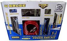BULLZ AUDIO 4 Gauge Car Amplifier Amp Installation Power Red Wiring Kit | PPAK4R