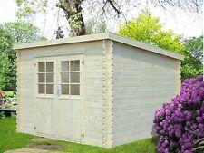 28 mm Gartenhaus Dortmund 300x300 cm Gerätehaus Holz Holzhaus Schuppen Blockhaus