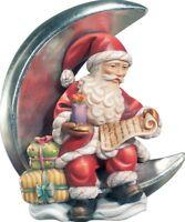 Weihnachtsmann Statue CM 8 Geschnitzte IN Holz Der IN Gröden Verziert A
