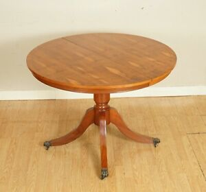 LOVELY VINTAGE BRIGHTS OF NETTLEBED BURR YEW WOOD DINING TABLE 4-6 PERSONS