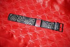 LADIES BLACK 30MM TED BAKER  LEATHER WATCH STAP WITH CASE & SCREWS