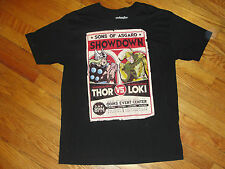 Marvel Short-Sleeve Cotton Black Sons of Asgard Thor v Loki T-Shirt Size XL