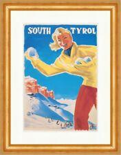 South Tyrol ALTO ADIGE LENHART skipiste paesaggio STAMPA D'ARTE MANIFESTO MONDO 115