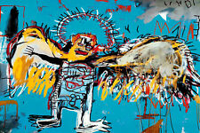 Jean Michel Basquiat  Fallen Angel Abstract Canvas Fine Art 20 x 30 Inch A1 1981