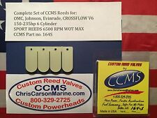 CCMS OMC Johnson Evinrude Sport Outboard Reed Valves  150-235 hp V6 C/F PN164S