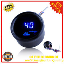 "BLACK 2"" 52MM DIGITAL LED OIL TEMP TEMPERATURE GAUGE METER"