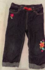 Gymboree Girls Blue Jeans-Embroidered Flowers Size 6