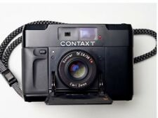 Black Contax T Rangefinder Film Camera with Carl Zeiss Sonnar T* 38mm F2.8 lens