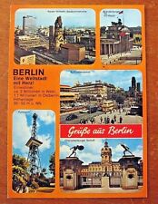 Berlin Germany Greeting Grube German Tourist Travel Europe Stamp Posted Postcard