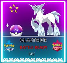Pokemon Sword & Shield ⚔️ LEGENDARY GLASTRIER 🔥6IV BRAND NEW! CROWN TUNDRA DLC!