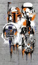No tejida fotomural gigante 200x120cm tamaño póster Star Wars celebrar el Galaxy