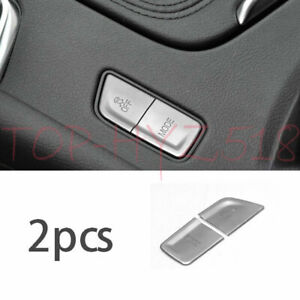 Central Console Button Decoration Aluminum Silver For Cadillac XT5 2016-2019 GL