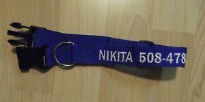 XXSmall ID Dog Collar, Personalized, name phone number, Unisex, Adjustable, xxs