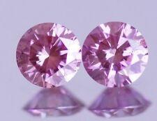 1.04 Carat Pink Round Brilliant Diamond Pair HPHT Loose