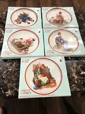 Norman Rockwell (5) Beloved Classics Plates 1986 Limited Edition Made In Japan