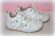 Ƹ̵̡Ӝ̵̨̄Ʒ GEOX Respira Turnschuhe Sneakers Leder Weiß Herzen Gr 22 Ƹ̵̡Ӝ̵̨̄Ʒ