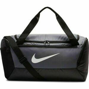 NEW Nike Brasilia Training Travel Duffle Sports Bag BA5957-026 Black/Grey/White