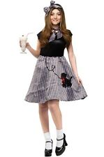 Women's 50's Bobby Soxer Poodle Skirt Costume Size M/L (10-14) NEW