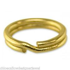 1x 9ct Yellow Gold 5mm Split Ring Charm Links keyring easy to attch your charms