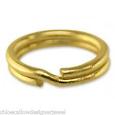 1x de 9 quilates de oro amarillo 5mm Arillo encanto enlaces Llavero fácil attch Tus Adornos