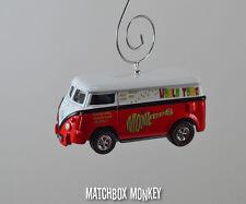 The Monkees 1:64 Volkswagen Samba Bus Van Kombi VW T2 Christmas Ornament splitty