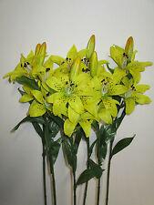 6 x Lilien Kunstblumen Lilie künstlich Seidenblumen Floristik Friedhof wie echt