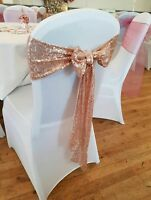 Sequin Chair Sashes - Table Runners, Hoods, Table Swag, Cloths, Drapes available