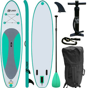 SUP Board EXPLORER Stand Up Paddle Surfboard aufblasbar Paddel ISUP ALF2 300 cm