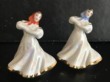 More details for pair ussr dulevo porcelain russian dancing girl figurines