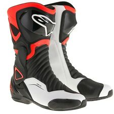 ALPINESTARS SMX 6 V2 BOOTS BLACK/RED/WHITE EURO SIZE 43