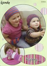 WE5459 BABIES / CHILDS 4ply HATS, MITTENS & GLOVES KNITTING PATTERN