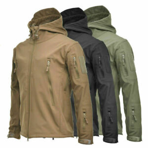 Shark Skin Soft Shell Men's Outdoors Military Tactical Coat Jacket camouflage