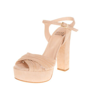 RRP€210 SILVIA ROSSINI Leather Ankle Strap Sandals EU 35 UK 2 US 5 Made in Italy
