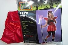 NWT NEW Halloween Costume Devil Doll 3-5 Junior Teen Woman's Red/Black