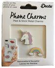 Cell Phone Bling Unicorn & Rainbow No Residue Enamel Charms  Peel & Stick Girl