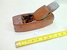 "Coffin Wood Plane, Vintage SANDUSKY TOOL CO. 2"" Wide Iron, USA"