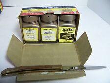 1959 CHRYSLER CORP DUPLI-COLOR TOUCH-UP GOLDEN TAN  NOS ORIG 3 BOTTLE BOX