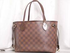 Louis Vuitton Damier Neverfull PM Tote Bag Shoulder Hand N51109 LV Auth #3522P