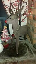 WOODEN REINDEER CHRISTMAS TREE PROP SHOP WINDOW HOME XMAS DECORATION EVENT PARTY